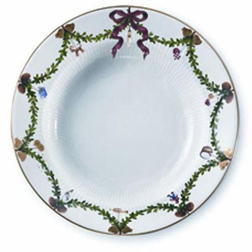 Royal Copenhagen Star Fluted Christmas Soup Plate-Large
