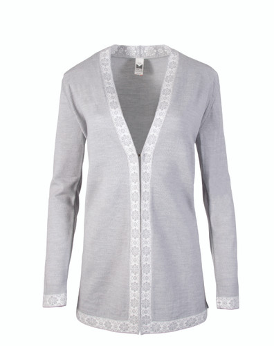 Dale of Norway Alexandra Cardigan, Ladies - Light Grey/Off White, 83061-E