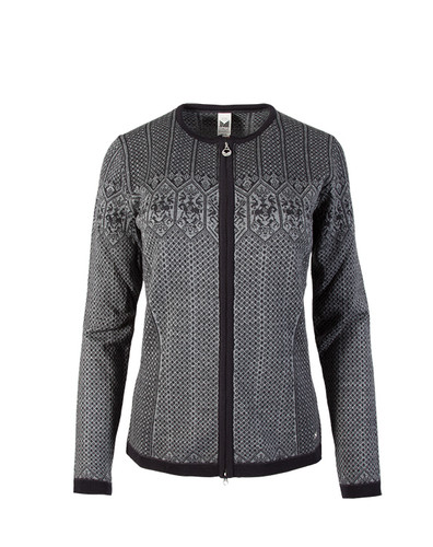 Dale of Norway Sigrid Cardigan, Ladies - Black/Dark Charcoal/Smoke, 82071-T