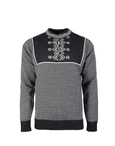 Dale of Norway Valdres Sweater - Dark Charcoal/Off White, 93301-E
