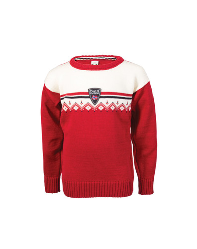 Dale of Norway Lahti Sweater, Childrens - Raspberry/Off White/Navy, 93311-B