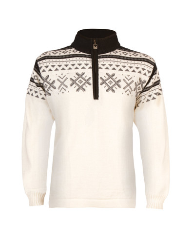 Dale of Norway Dovre Pullover - Off-White/Smoke/Black, 91781-A