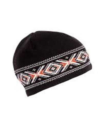 Dale of Norway Kuppern Hat - Black/Off-White/Orange, 42361-F