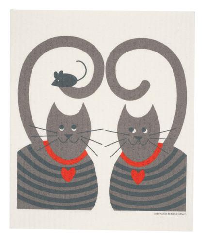 Swedish Dishcloth - Cats