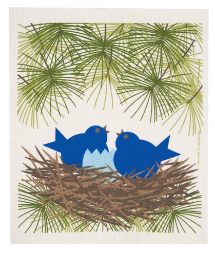 Swedish Dishcloth - Blue Birds