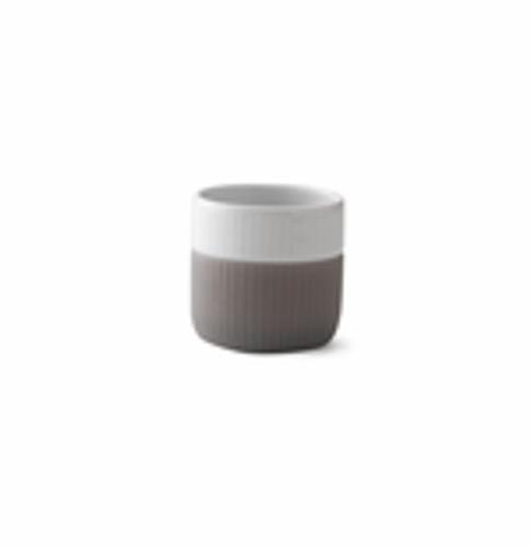 Royal Copenhagen Fluted Contrast Espresso Mug - Elephant Grey