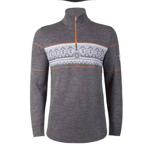 Dale of Norway Rondane Pullover, Mens - Smoke/White/Orange Peel,  92691-T