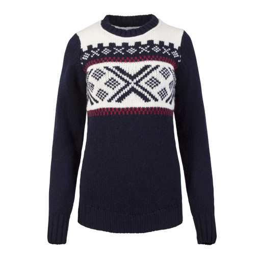 Dale of Norway Skigard Sweater, Ladies - Navy/Raspberry/Off White-93411-C