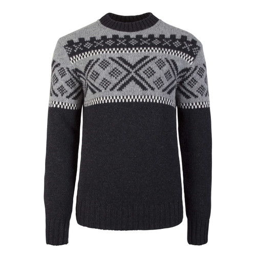 Dale of Norway Skigard Sweater, Mens - Dark Charcoal/Off White/Smoke, 93401-E