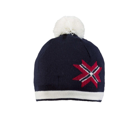 Dale of Norway Unisex Olympic Passion Hat, Navy/Off White/Raspberry, 48091-C