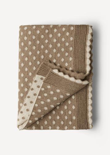Lilly Oleana Alpaca Throw Blanket, 408BQ Beige/White