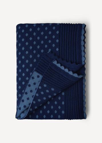 Lilly Oleana Alpaca Throw Blanket, 408F Blue