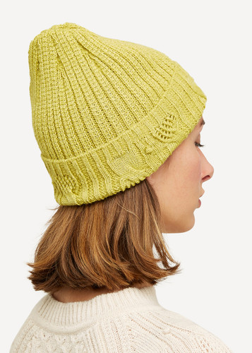 Linnea Oleana Textured Knitted Hat, 423Y Yellow