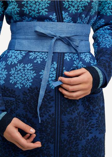 Ada Oleana 100% Linen Belt, 89F Blue