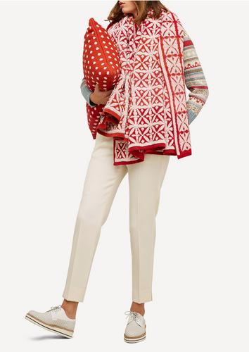 Agneta Oleana Knitted Cushion, 428R Red