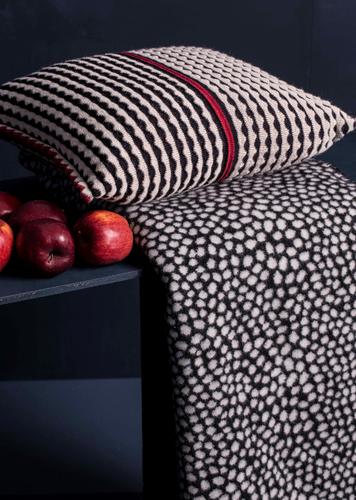 Berta Oleana Knitted Textured Cushion, 59 O2 Black