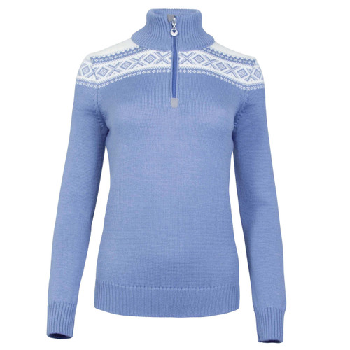 Dale of Norway Cortina Merino Sweater, Ladies - Blue Shadow/Off-White, 93811-D