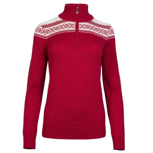 Dale of Norway Cortina Merino Sweater, Ladies - Raspberry/Off White, 93811-B