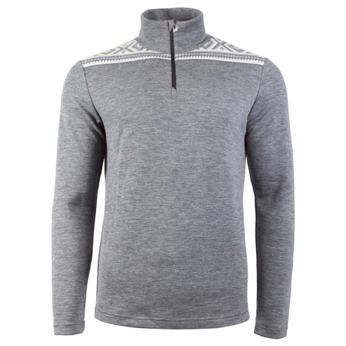 Dale of Norway Cortina Basic Sweater, Mens - Smoke/Off-White, 93531-E