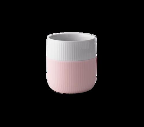 Royal Copenhagen fluted contrast espresso mug in dahlia