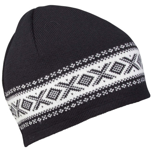 Dale of Norway Cortina Merino Hat - Black/Off White, 48211-F