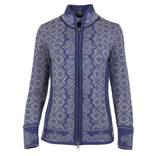 Dale of Norway, Christiania Cardigan, Ladies in Electric Storm/Smoke, 81951-H, on sale at The Nordic Shop
