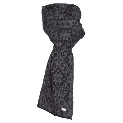Dale of Norway Flora Scarf - Black/Dark Grey Mel, 11681-F