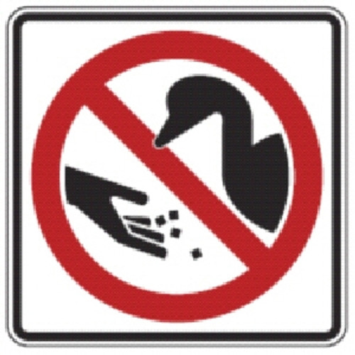 don't feed wildlife sign from dornbos sign & safety, inc.