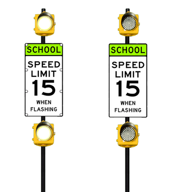 School Zone Speed Limit Sign Flashing Speed Limit Sign