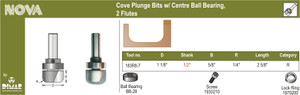 1-1/8IN COVE PLUNGE/CENTRE BALL BEARING