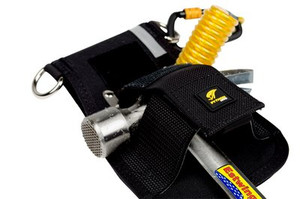 DBI-SALA Hammer Holster, Belt with Hook2Quick Ring Coil Tether with Tail