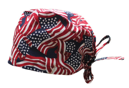 American Flag Cotton Scrub Hat