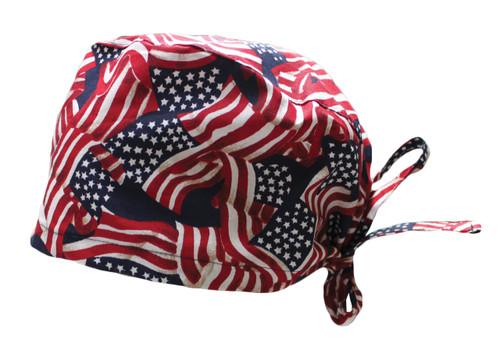 American Flag Cotton Scrub Hat