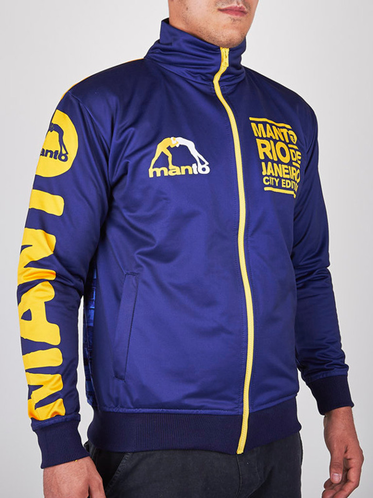 "MANTO ""RIO"" TRACK JACKET Navy/Yellow"