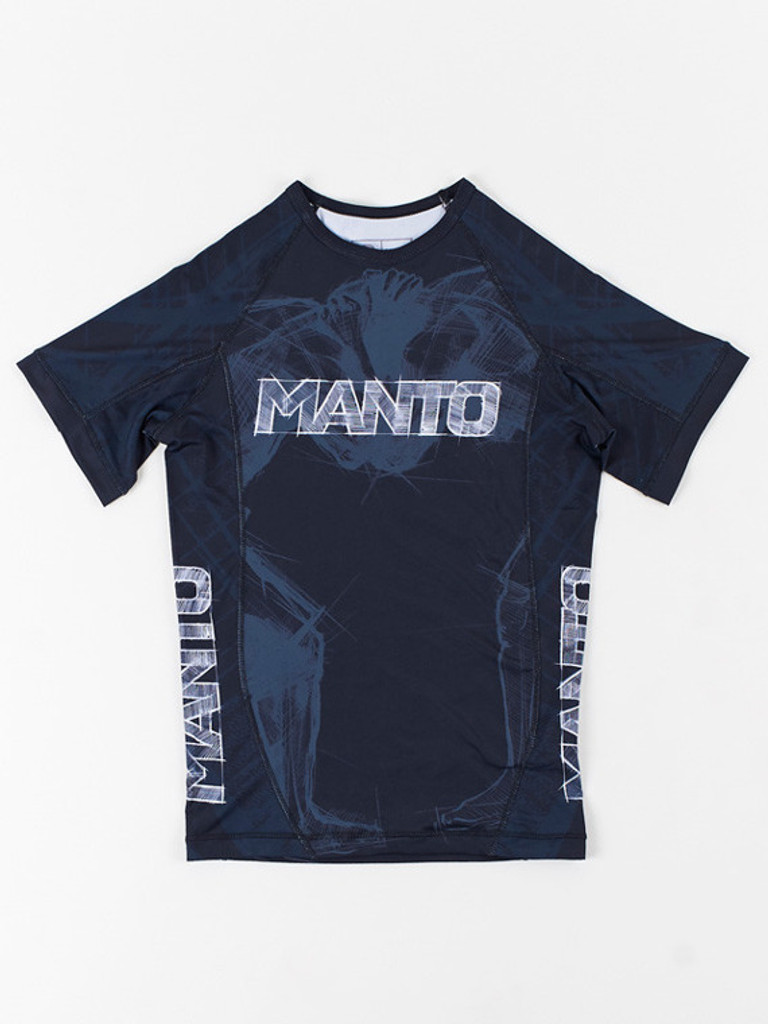 "MANTO ""WRESTLERS"" RASHGUARD Black"