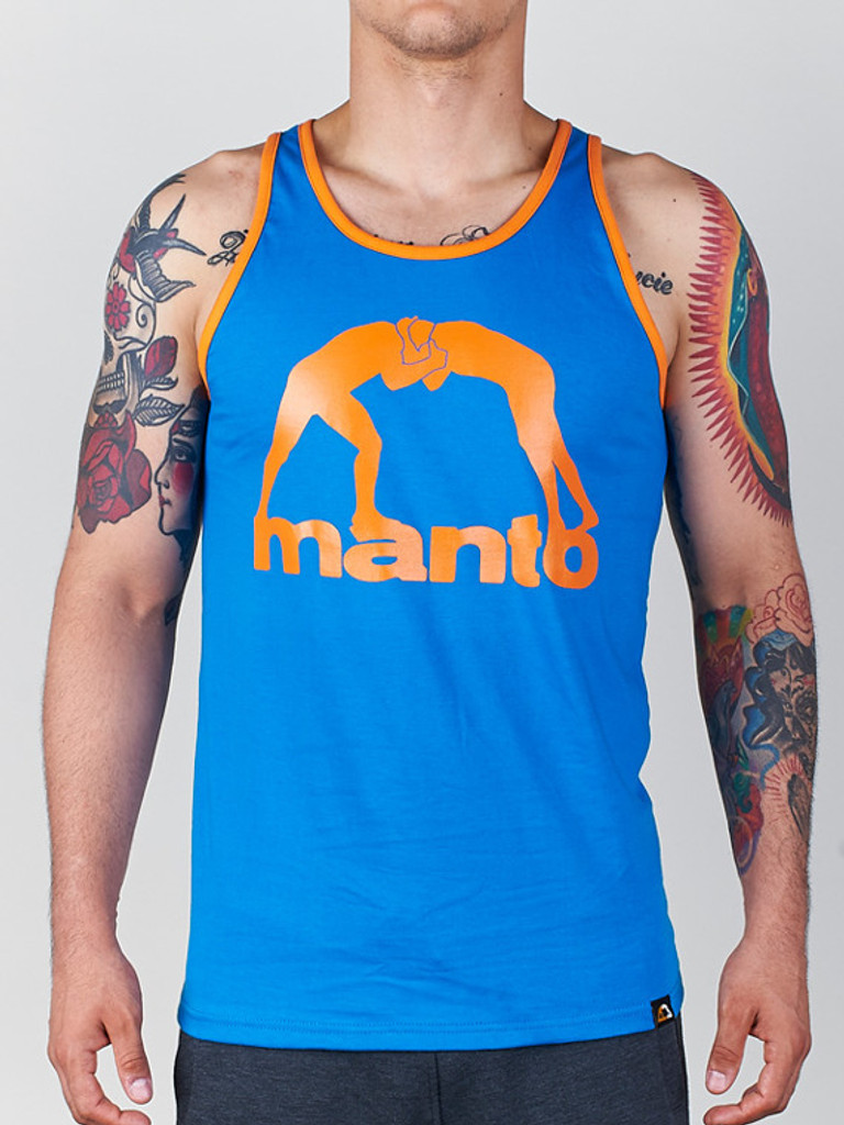 "MANTO ""VIBE"" TANK TOP Blue"