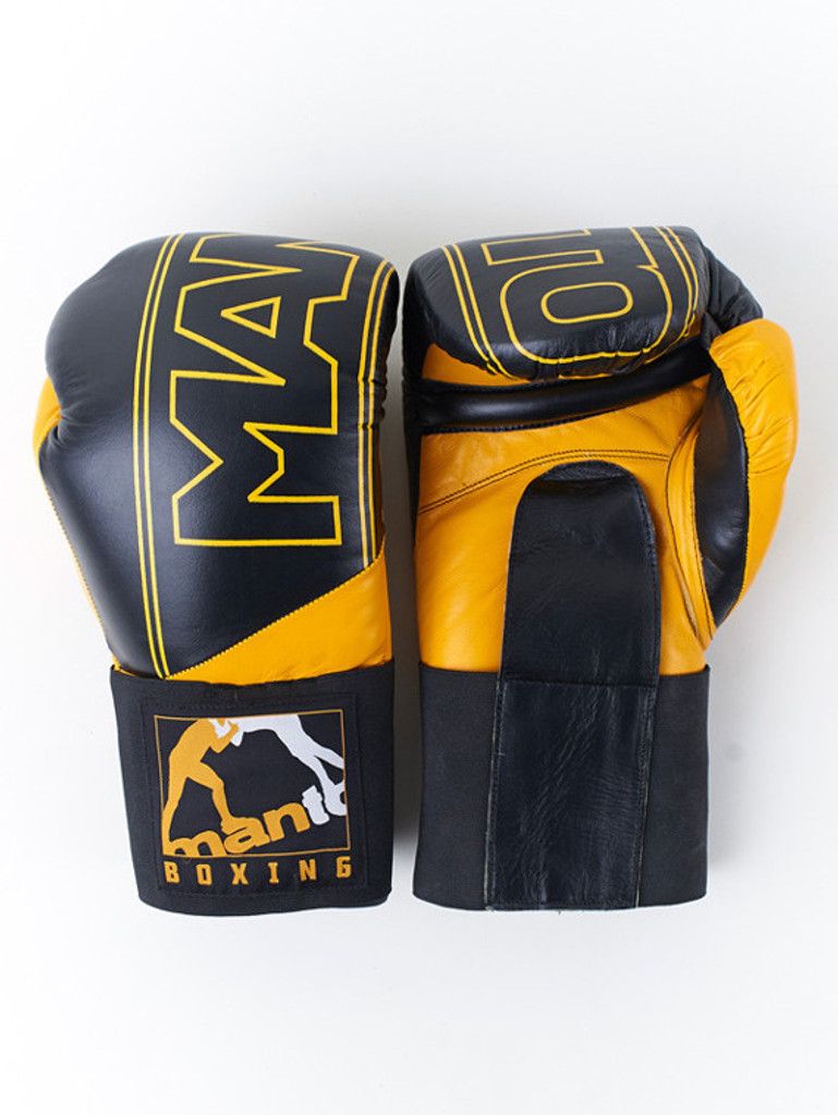 "MANTO ""PRO"" Boxing Training Gloves Black"