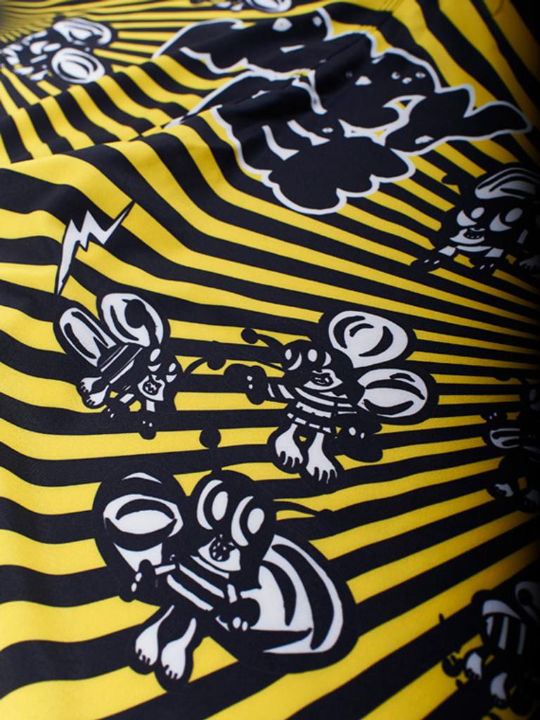 "MANTO ""SKOLOCT"" SHORTS Black/Yellow"