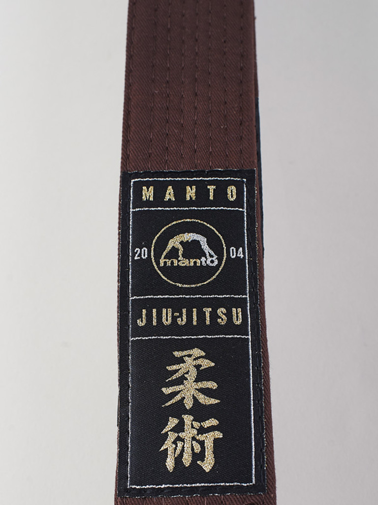 "MANTO ""ARTE SUAVE"" PREMIUM BELT  Brown for Jiu-Jitsu"