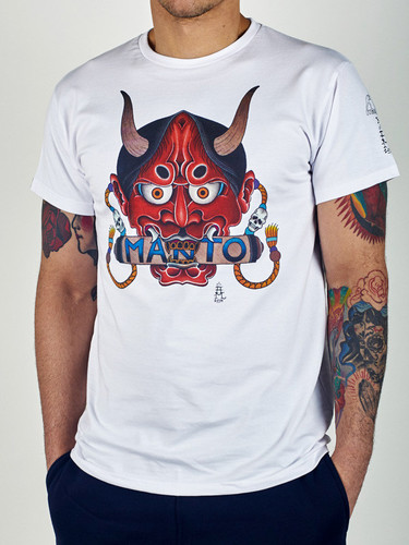 "MANTO ""HANNYA"" T-SHIRT White"
