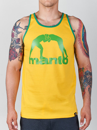 "MANTO ""VIBE"" TANK TOP Yellow"