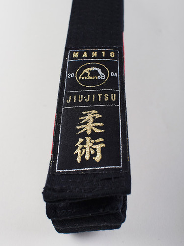 "MANTO ""ARTE SUAVE"" PREMIUM BELT Black for Jiu-Jitsu"