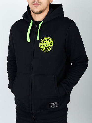 "MANTO ""MOVEMENT"" HOODIE ZIP Black"