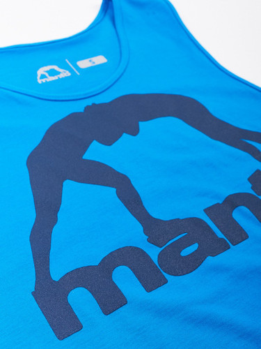 "MANTO ""VIBE"" TANK TOP Blue & Navy"