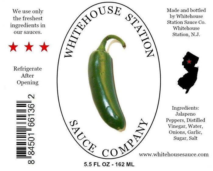 Whitehouse Station Jalapeno Sauce available at PepperExplosion.com