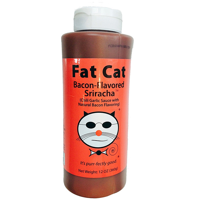 Fat Cat Bacon Flavored Sriracha Hot Sauce
