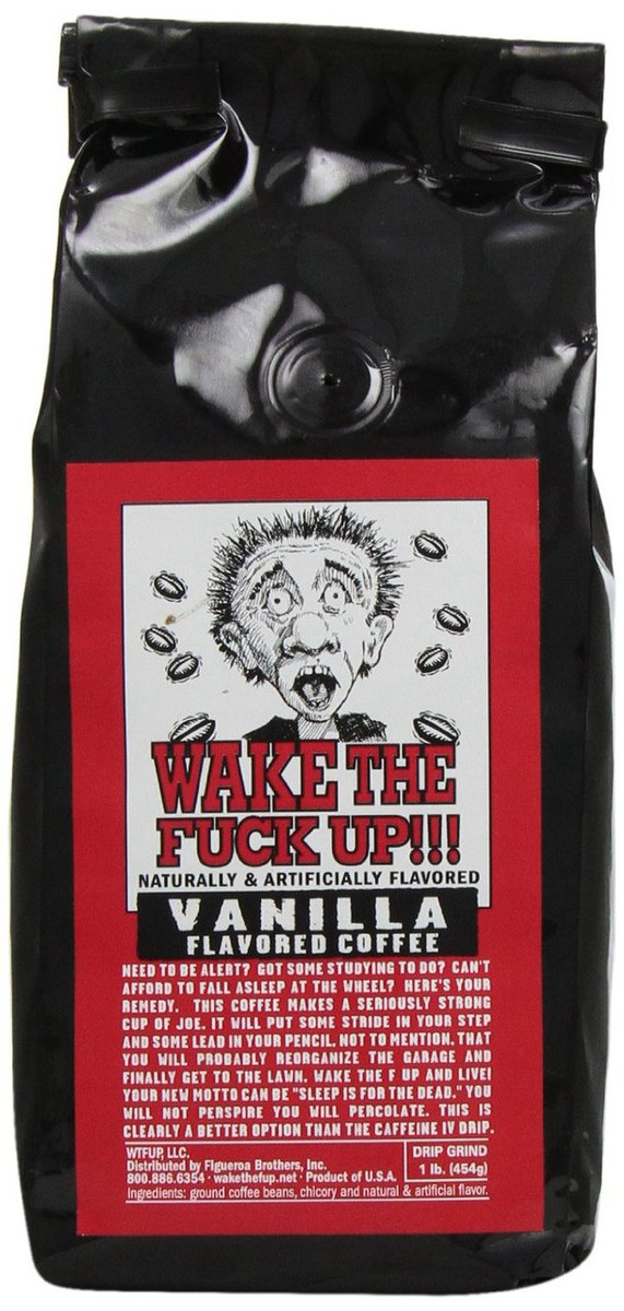 WAKE THE F*@K UP COFFEE - Vanilla - PepperExplosion.com
