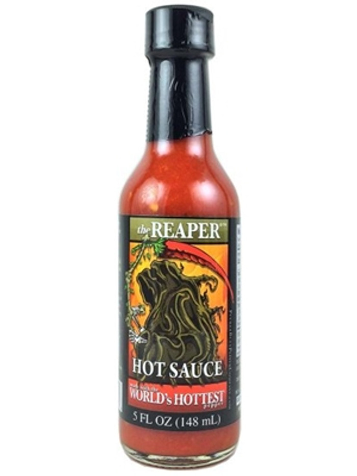 the REAPER Hot Sauce made by PuckerButt's Ed Currie available at PepperExplosion.com
