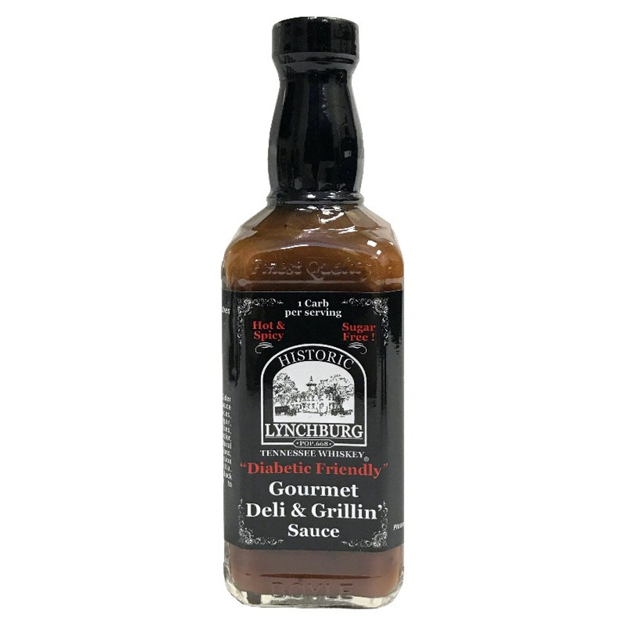 Diabetic Friendly Hot & Spicy Gourmet Deli & Grillin' Sauce by Historic Lynchburg Sauces