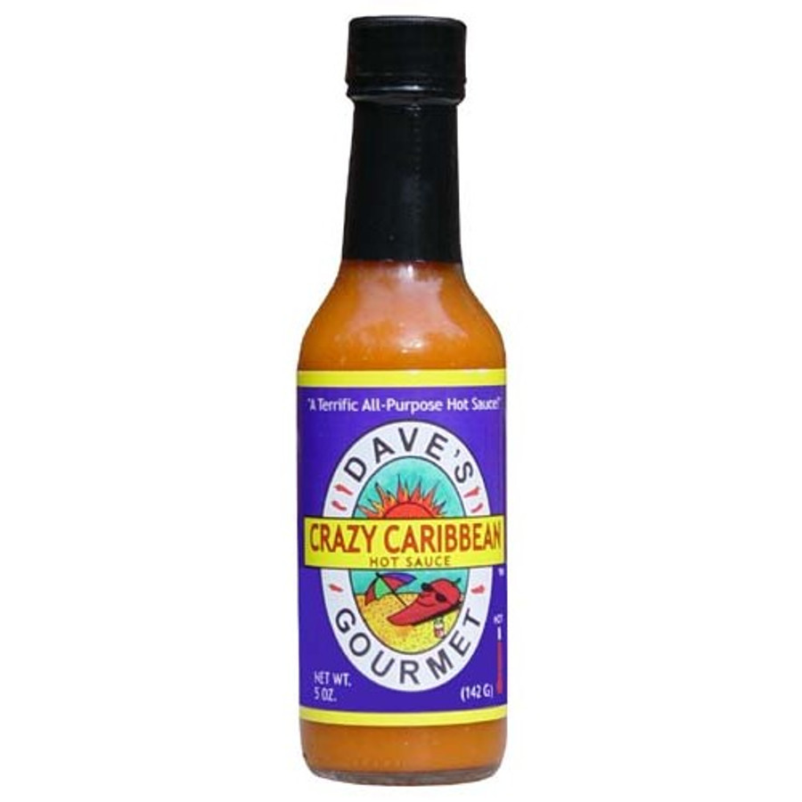 Dave's Crazy Caribbean Hot Sauce with Rican Red Habanero Peppers